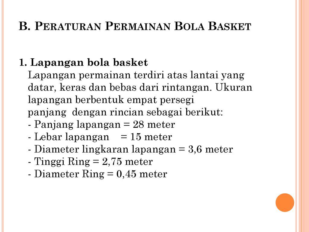 Permainan Bola Basket Ppt Download