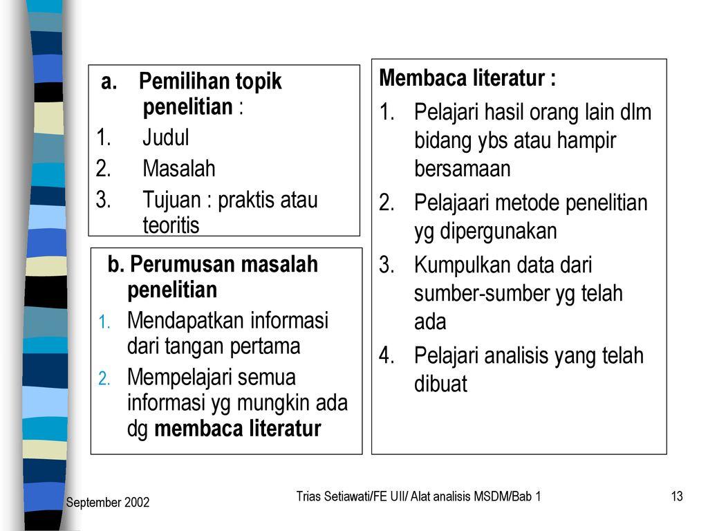 Alat Alat Analisis Manajemen Sdm Ppt Download