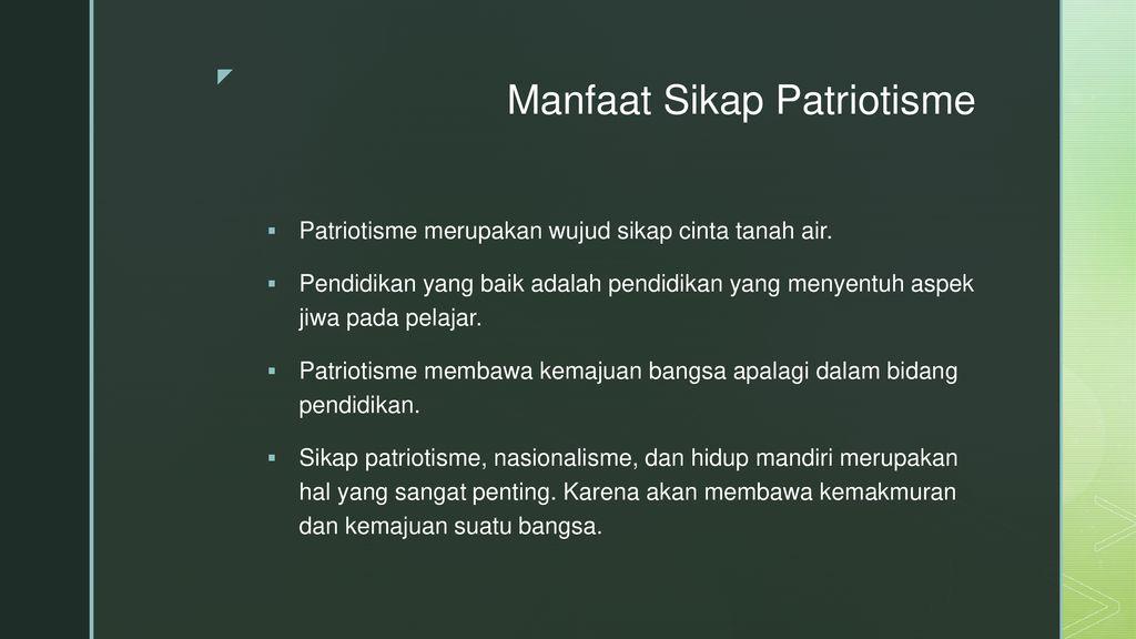 Membiasakan Perilaku Patriotik Ppt Download
