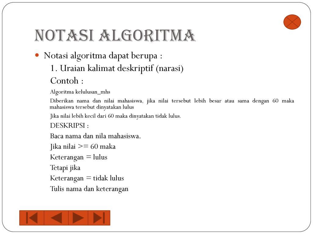 Algoritma Pemrogaman Komputer Ppt Download