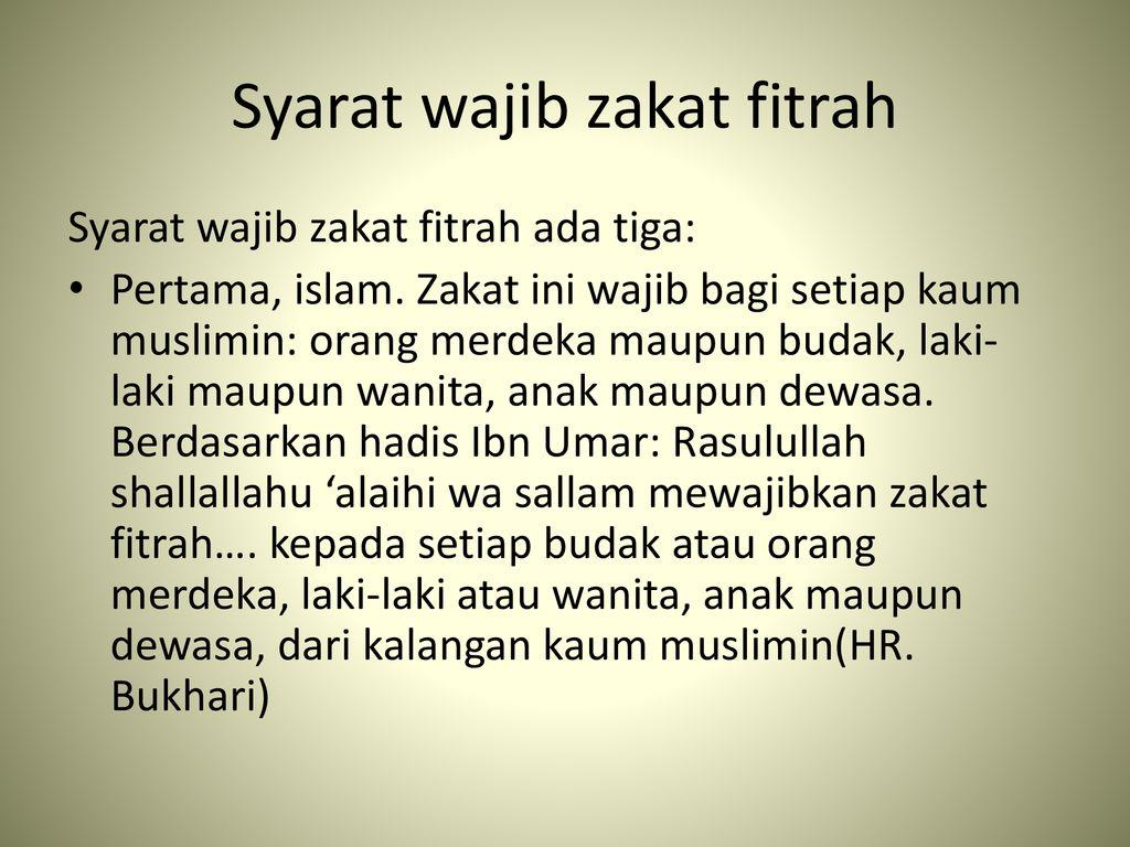 Zakat Fitrah Ppt Download