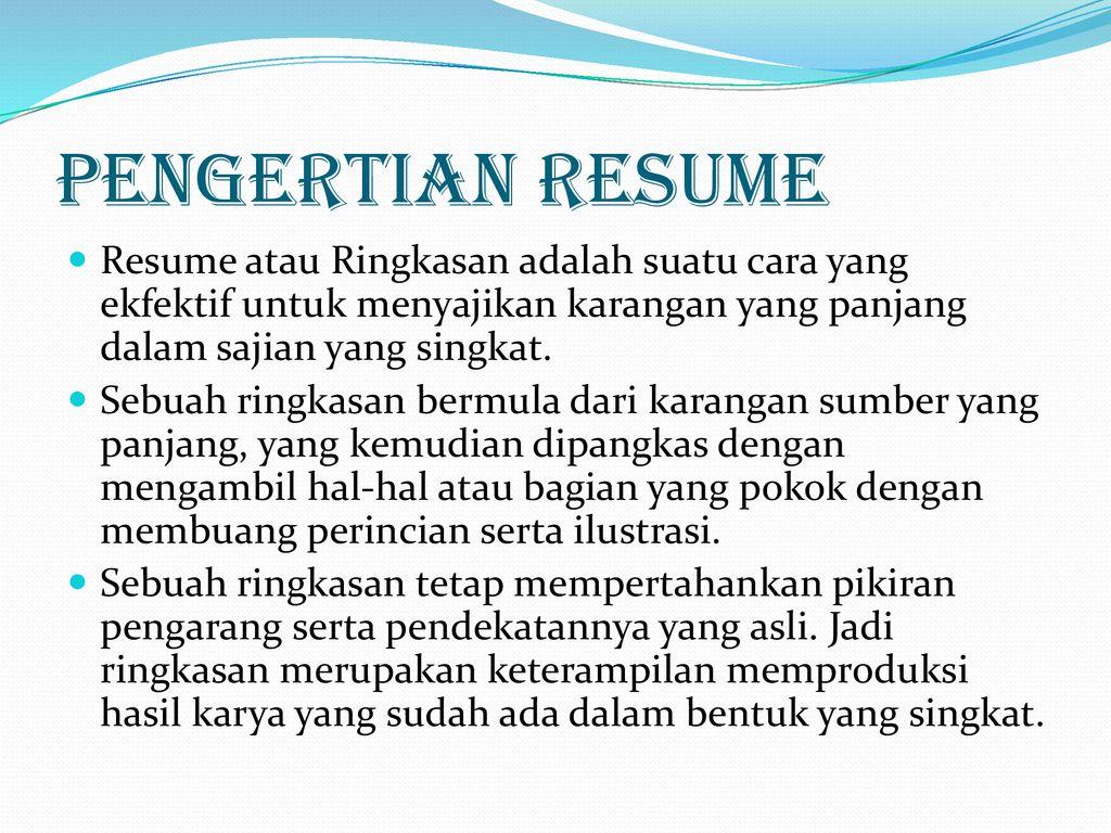 Membuat Resume Ppt Download
