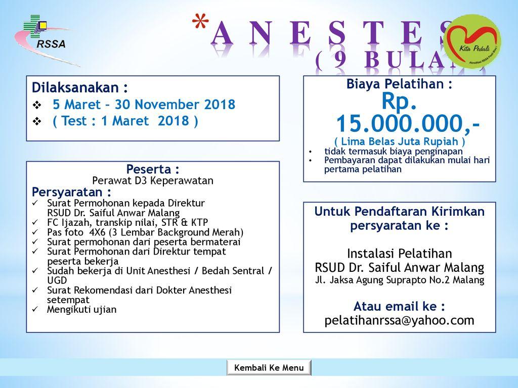 Rsud Dr Saiful Anwar Malang Tahun Ppt Download