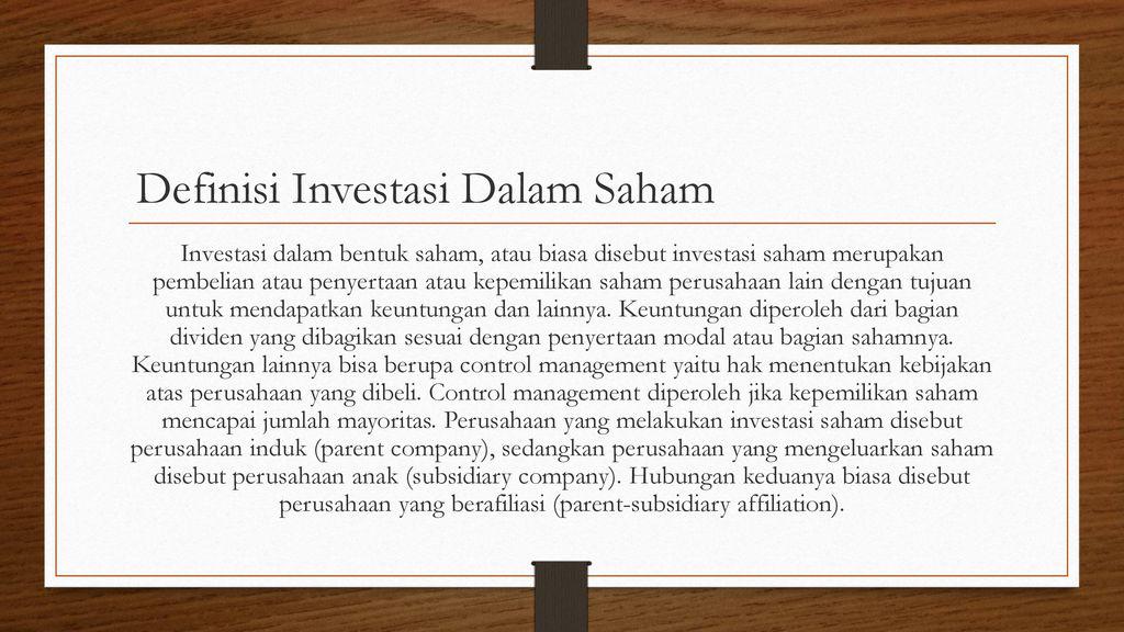 Investasi Dalam Saham Dan Obligasi Ppt Download