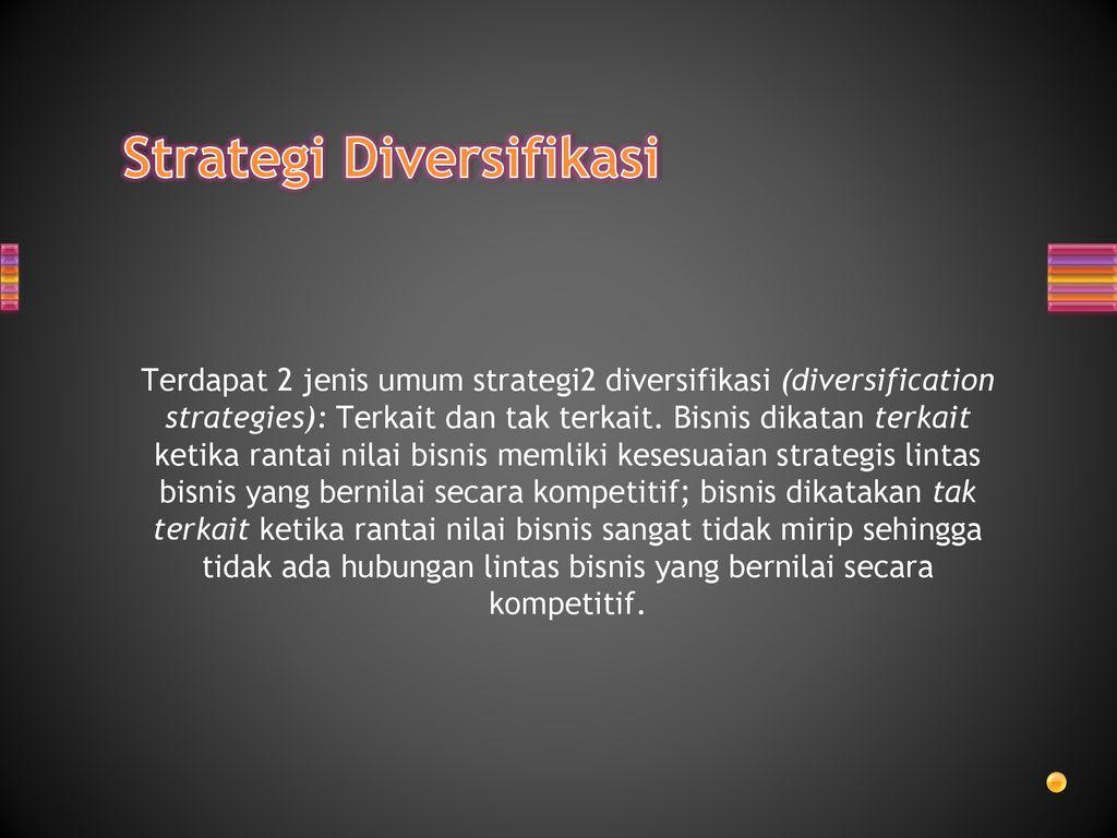 strategi multiproduk diversifikasi yang tidak terkait
