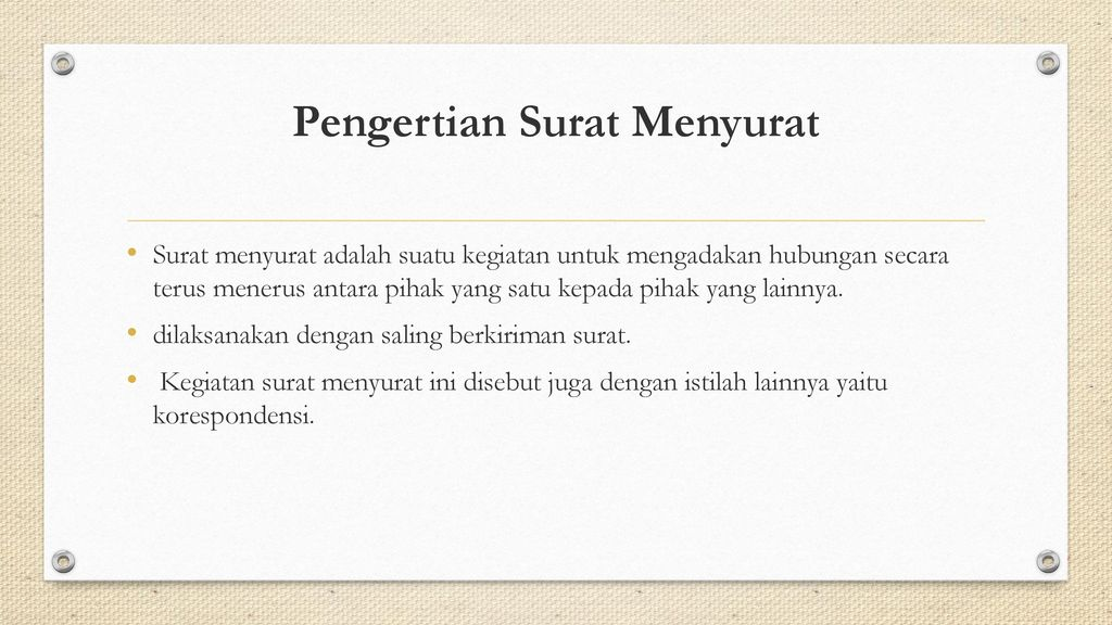 Karakteristik Dan Bahasa Surat Ppt Download