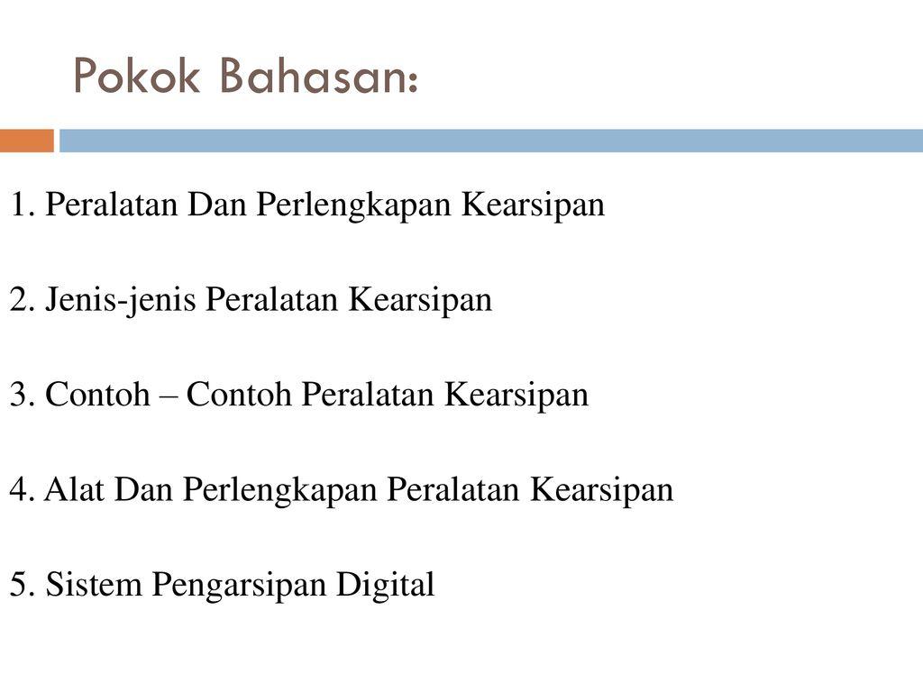 Manajemen Kearsipan Iii Ppt Download