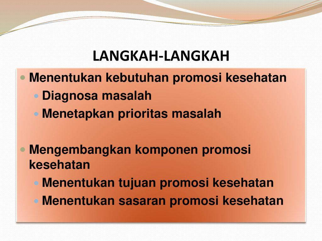 4 Perencanaan Promosi Kesehatan Ppt Download