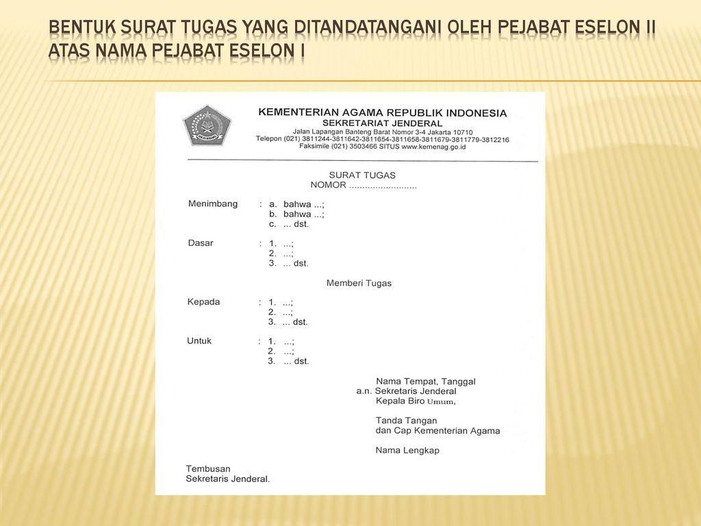 Pedoman Tata Naskah Dinas Pada Kementerian Agama Ppt Download