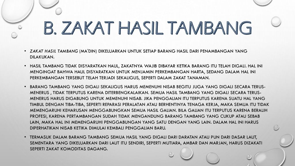 Zakat Hasil Tambang Zakat Hasil Perdagangan Dan Zakat Rikaz Ppt Download