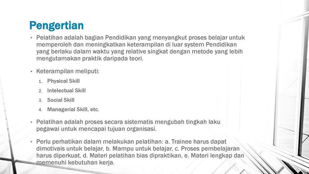 Pelatihan Dan Pengembangan Karyawan Ppt Download