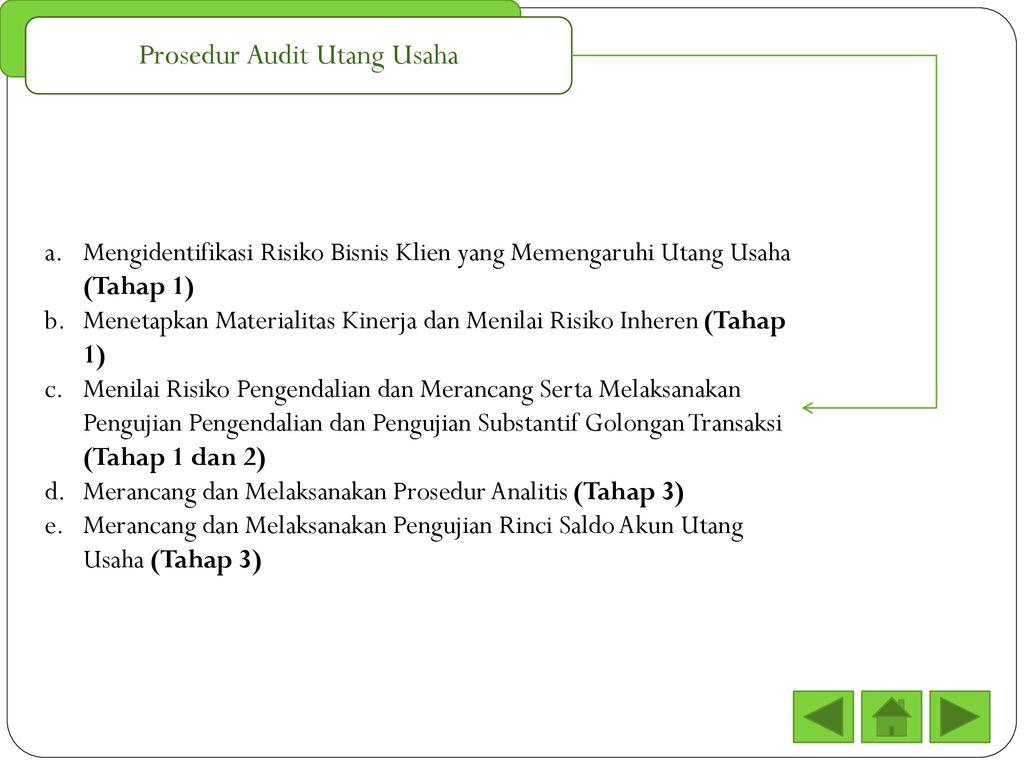 Audit Terhadap Siklus Pengeluaran Pengujian Pengendalian Ppt Download