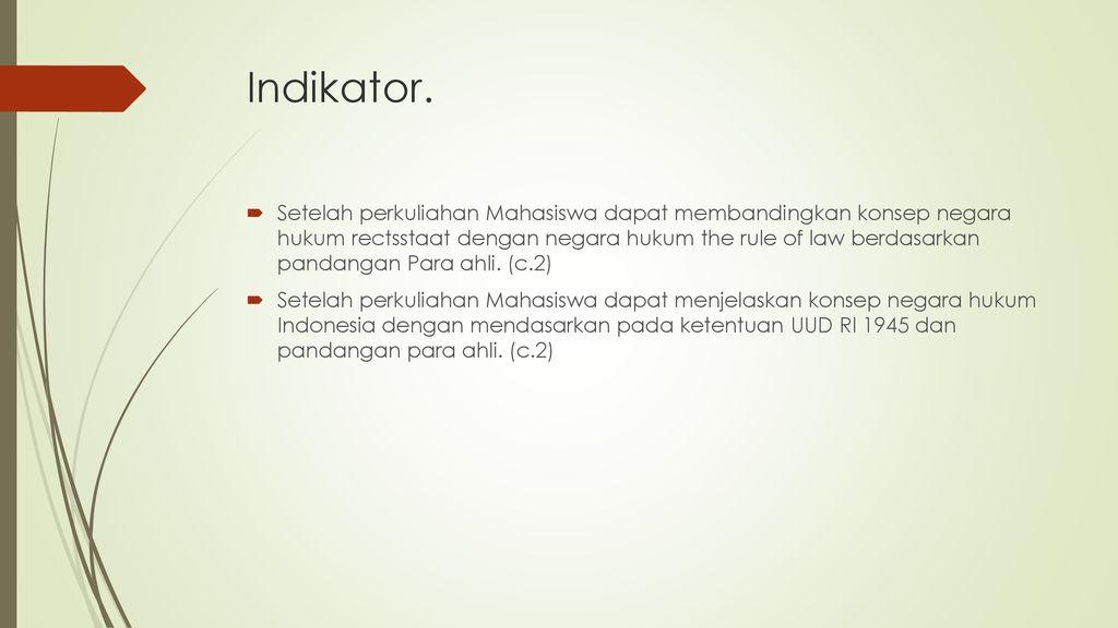 Negara Hukum Indonesia Ppt Download