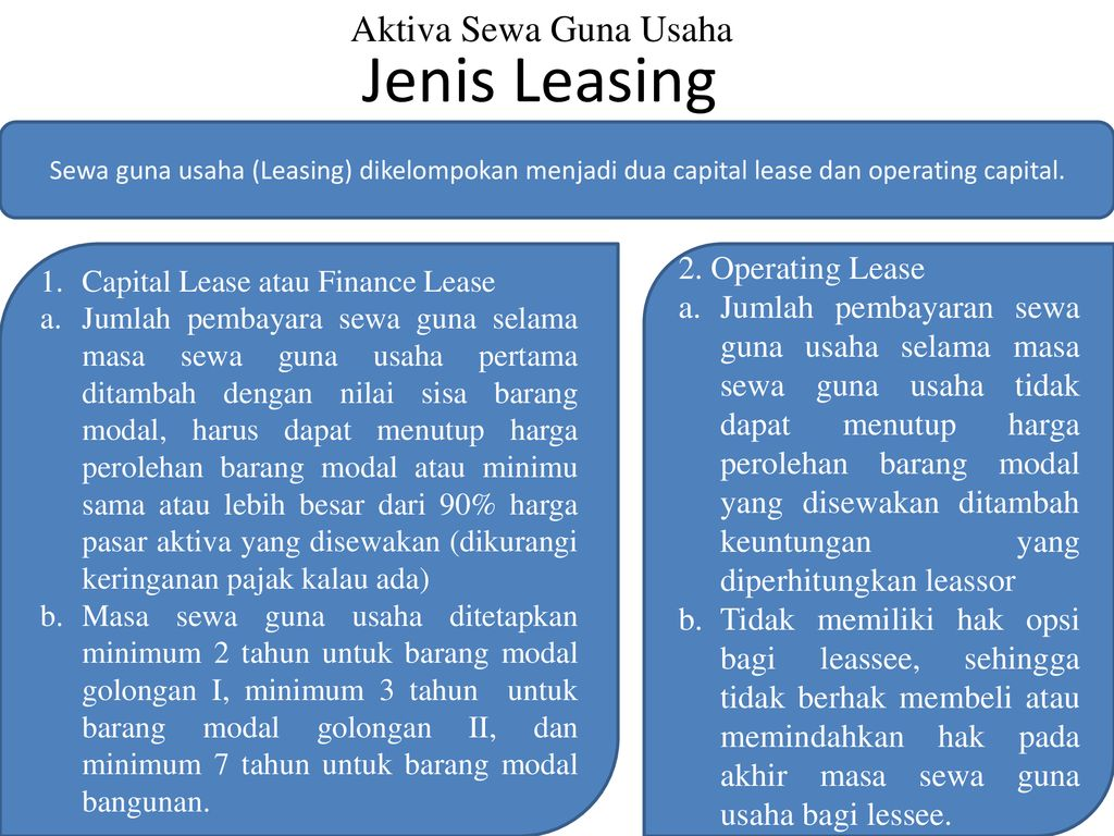 Leasing Dan Aktiva Tetap Ppt Download