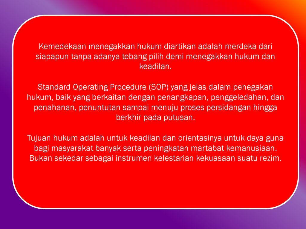 TINDAK PIDANA KORUPSI DALAM PERPEKTIF PANCASILA - ppt download