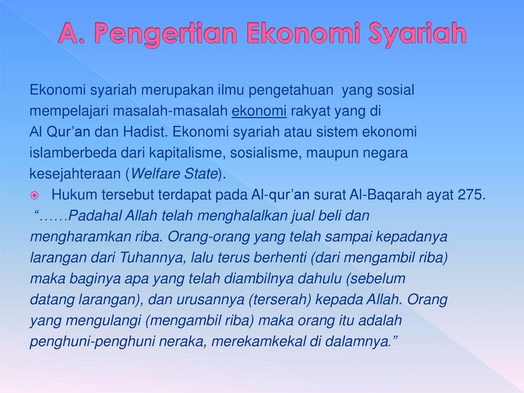 Prinsip Prinsip Dalam Ekonomi Syariah Ppt Download