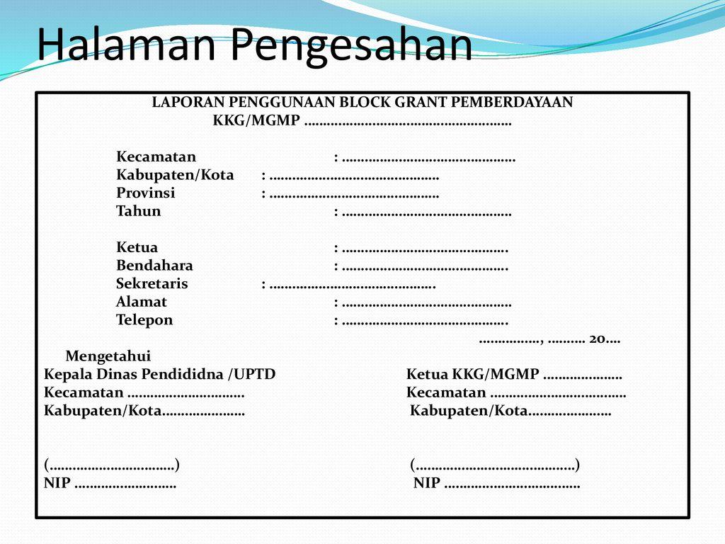 Penyusunan Laporan Kkg Mgmp Ppt Download