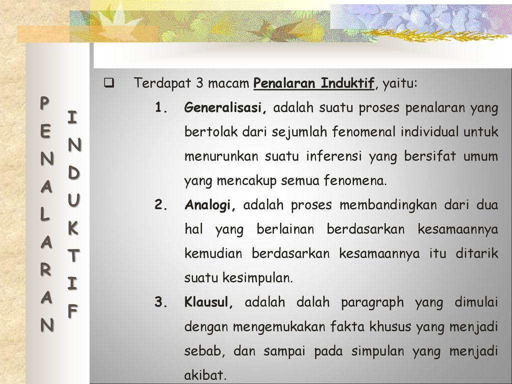 Penalaran Analogi Disusun Oleh Dame Angela Parsaulian 140050909 Ppt Download