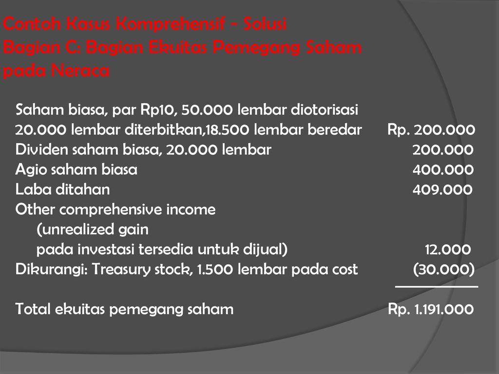 Ekuitas Pemegang Saham Ppt Download