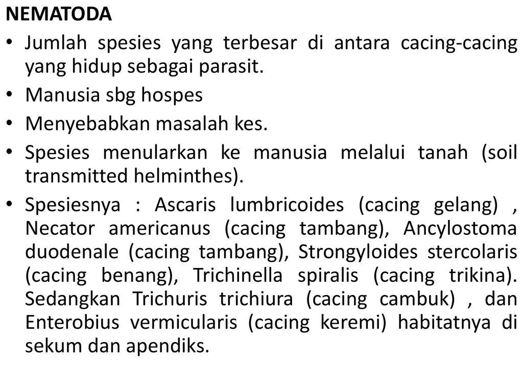 enterobiasis különbség a helmintáktól)