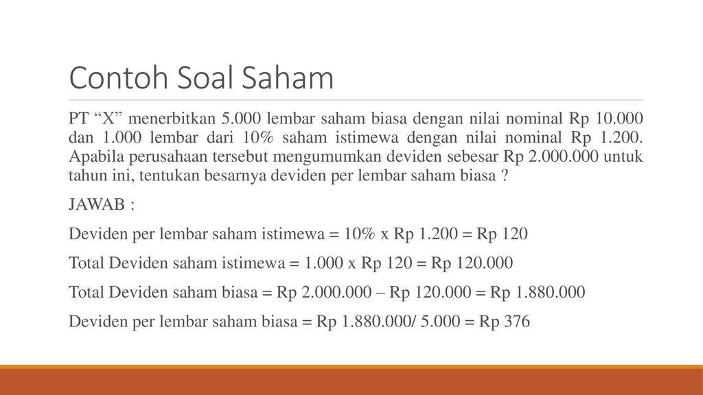 Saham Dan Obligasi Ppt Download