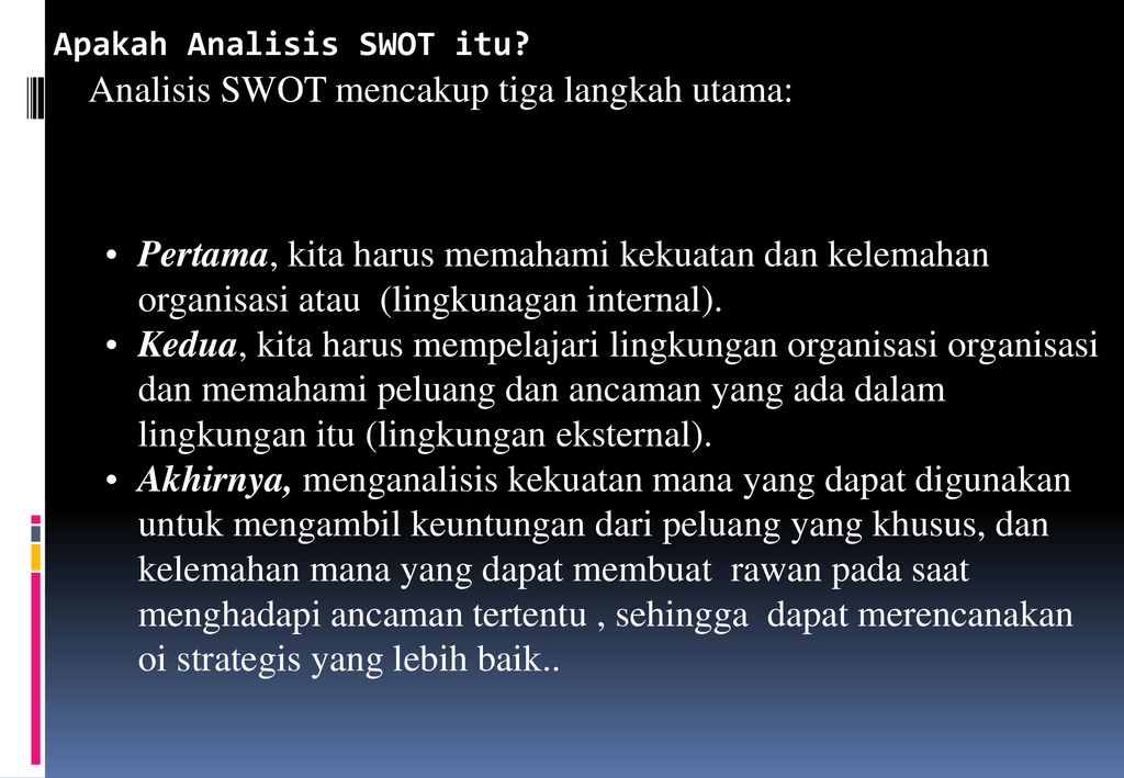 Analisis Swot Ppt Download
