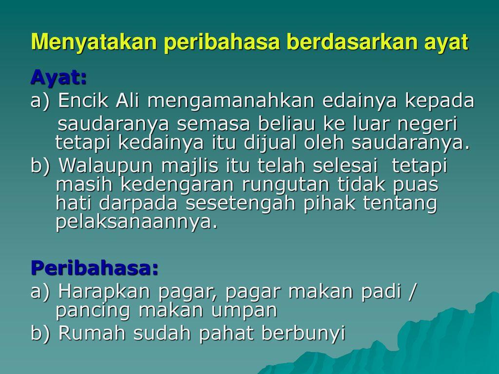 Bahasa Melayu Spm Peribahasa Ppt Download