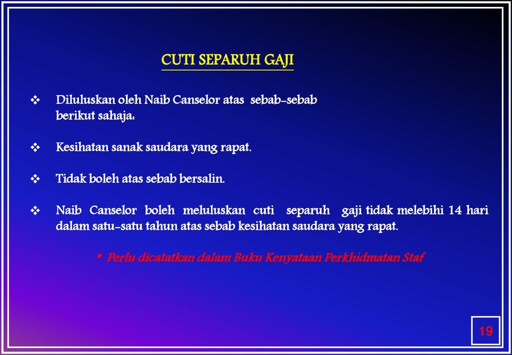 Perintah Am Bab C Cuti Ppt Download