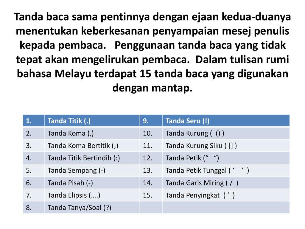 Kuliah 6 Tanda Baca Ppt Download