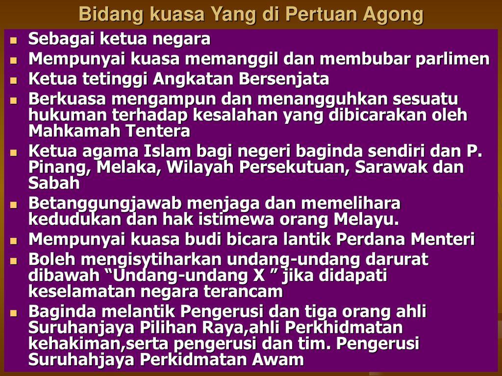 Ciri Ciri Utama Sistem Pemerintahan Demokrasi Berparlimen Di Malaysia Ppt Download