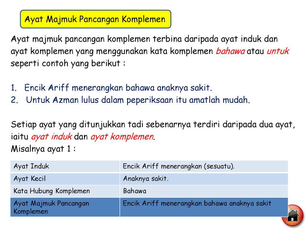 Ayat Majmuk Ayat Majmuk Pancangan Relatif Ayat Majmuk Gabungan Ppt Download