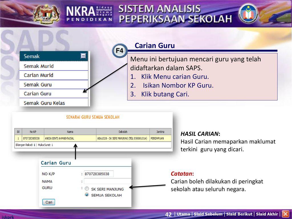 Sistem Analisis Peperiksaan Sekolah Manual Pengguna Ppt Download