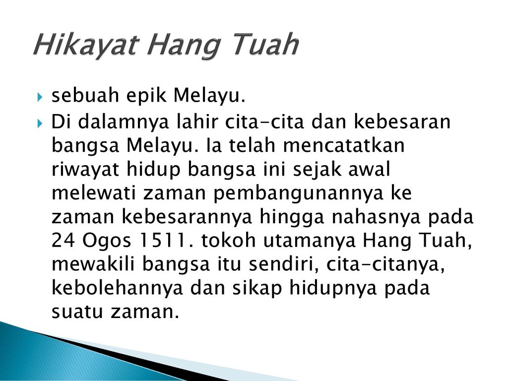 Bbm 3104 Kuliah 14 Hikayat Hang Tuah Ppt Download