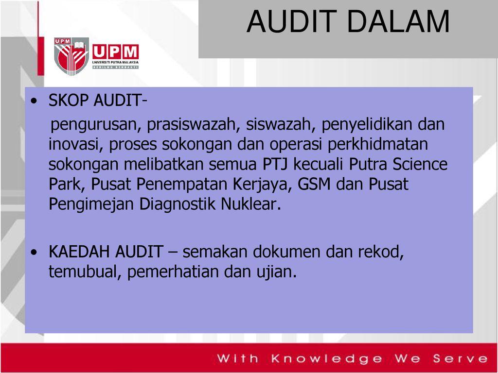 Pembentangan Laporan Audit Dalam Upm Ppt Download