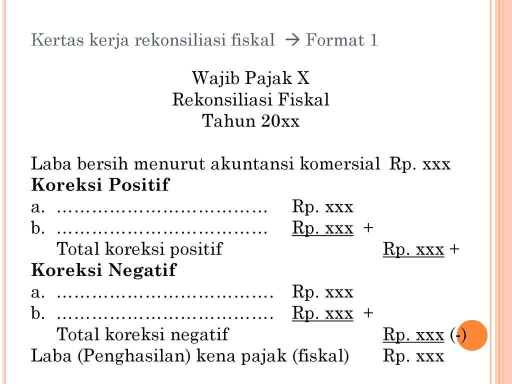 Rekonsiliasi Fiskal Spt Tahunan Pph Ppt Download