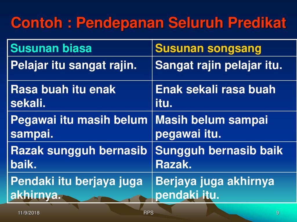 Ayat Susunan Biasa Dan Ayat Songsang Ppt Download