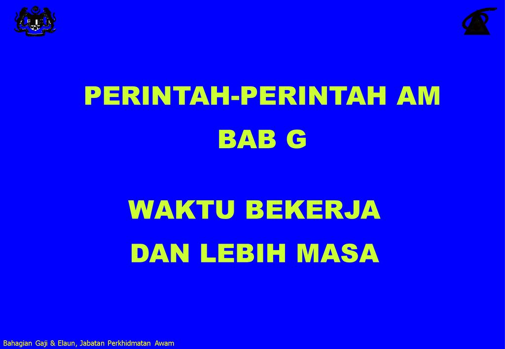 Perintah Perintah Am Bab G Ppt Download