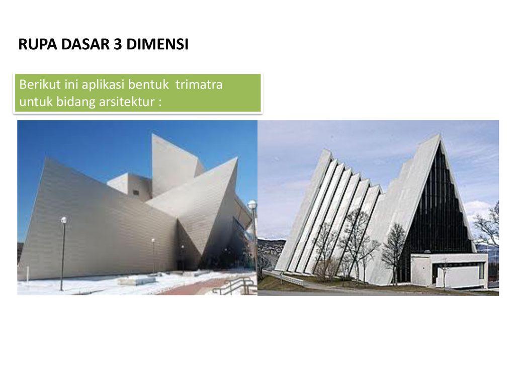 Rupa Dasar 3 Dimensi Berikut Ini Aplikasi Bentuk Trimatra Untuk Bidang Arsitektur Ppt Download