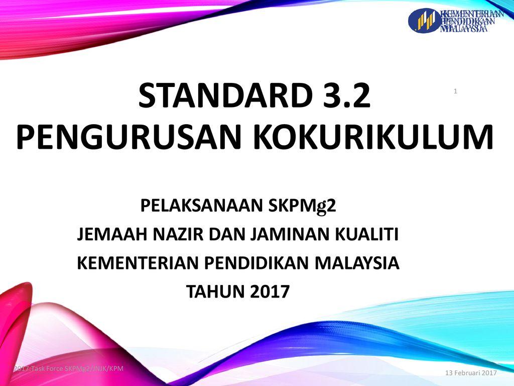 Standard 3 2 Pengurusan Kokurikulum Ppt Download