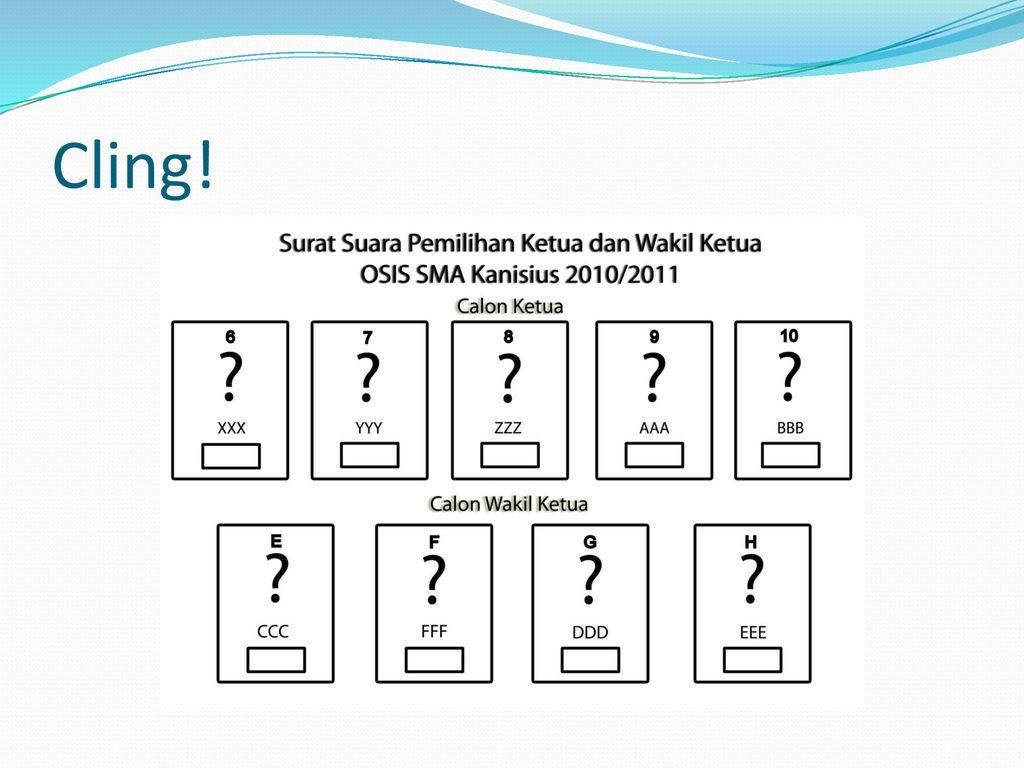 Pemilihan Ketua Dan Wakil Ketua Osis Sma Kanisius 2010 Ppt