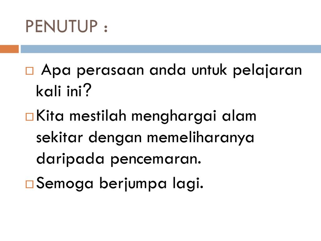 Bahasa Melayu Tahun 3 Tajuk Pencemaran Air Ppt Download