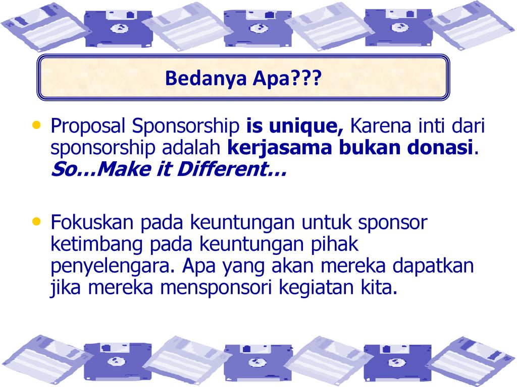 16+ Inti dari proposal adalah info