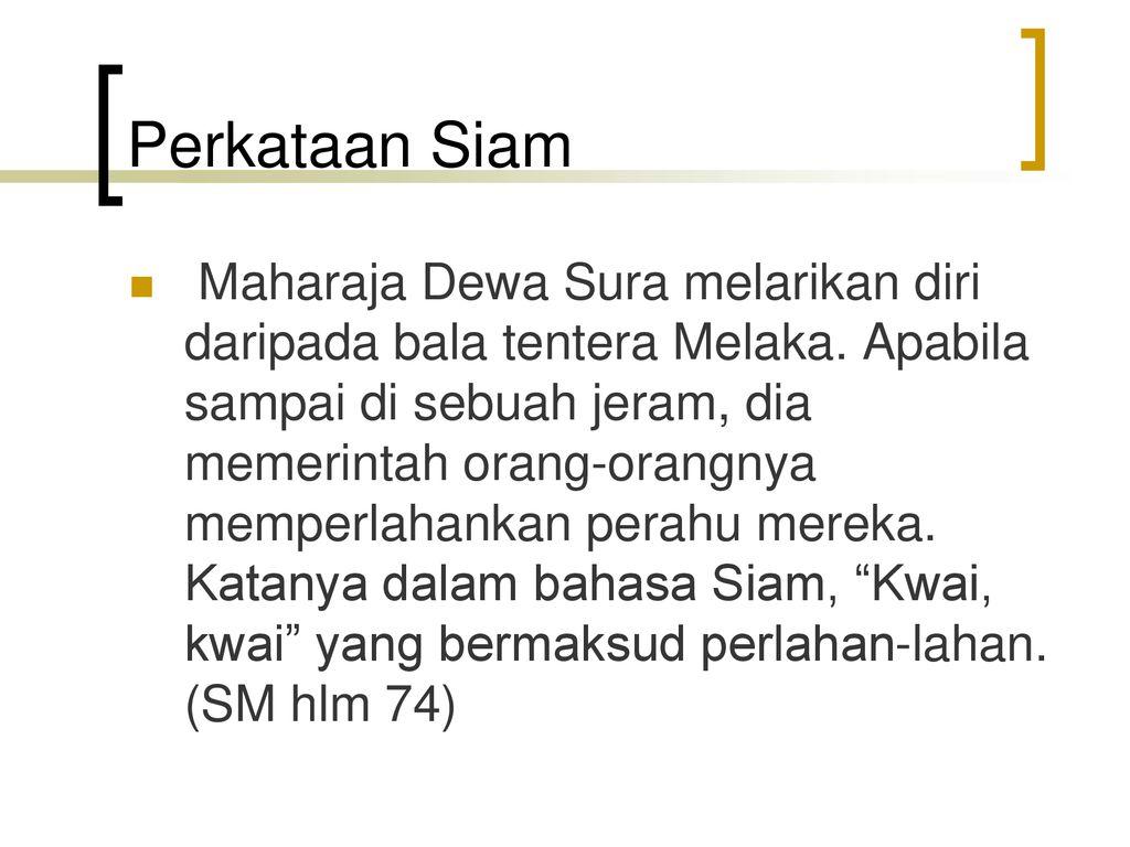 Bahasa Melayu Klasik Sejarah Melayu Kuliah 6 M4 Ppt Download