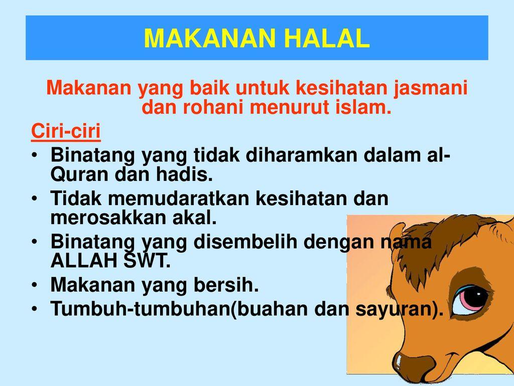 Bab 5 Makanan Yang Halal Dan Haram Menurut Islam Ppt Download