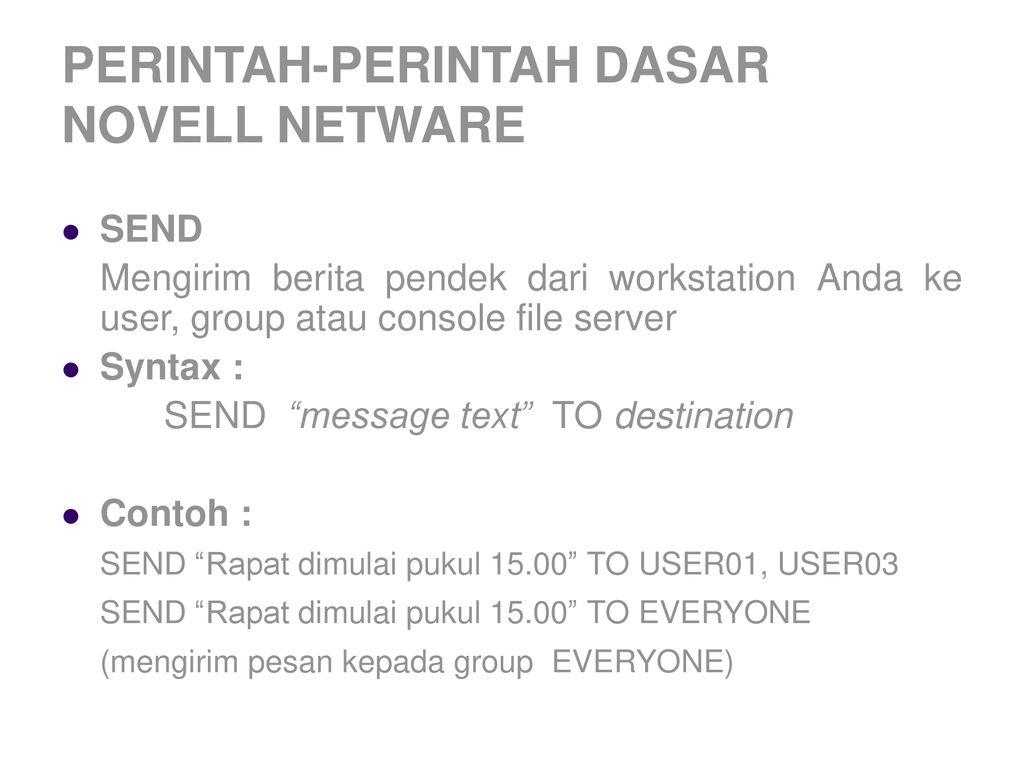Pengenalan Network Operating System Novell Netware Ppt Download