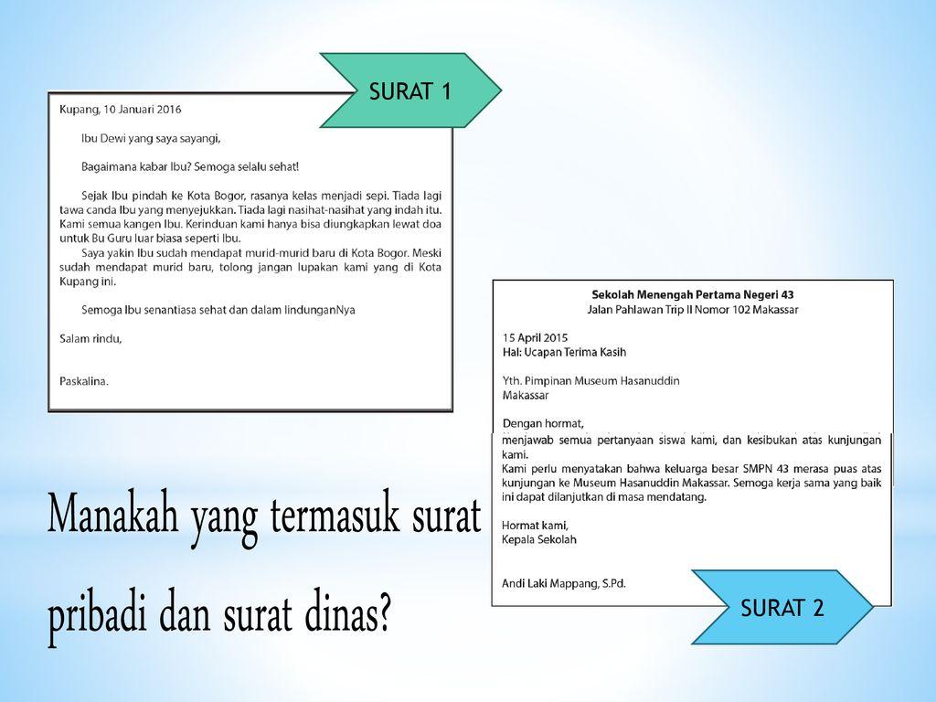 Surat Pribadi Surat Dinas Ppt Download
