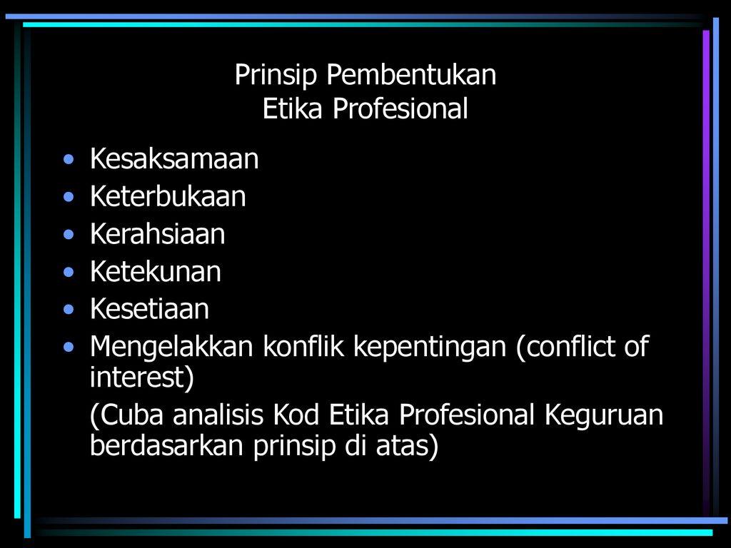Profesionalisme Keguruan Ppt Download