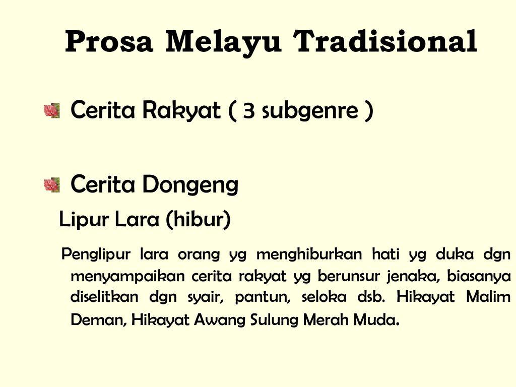 Pengenalan Kesusasteraan Melayu Ppt Download