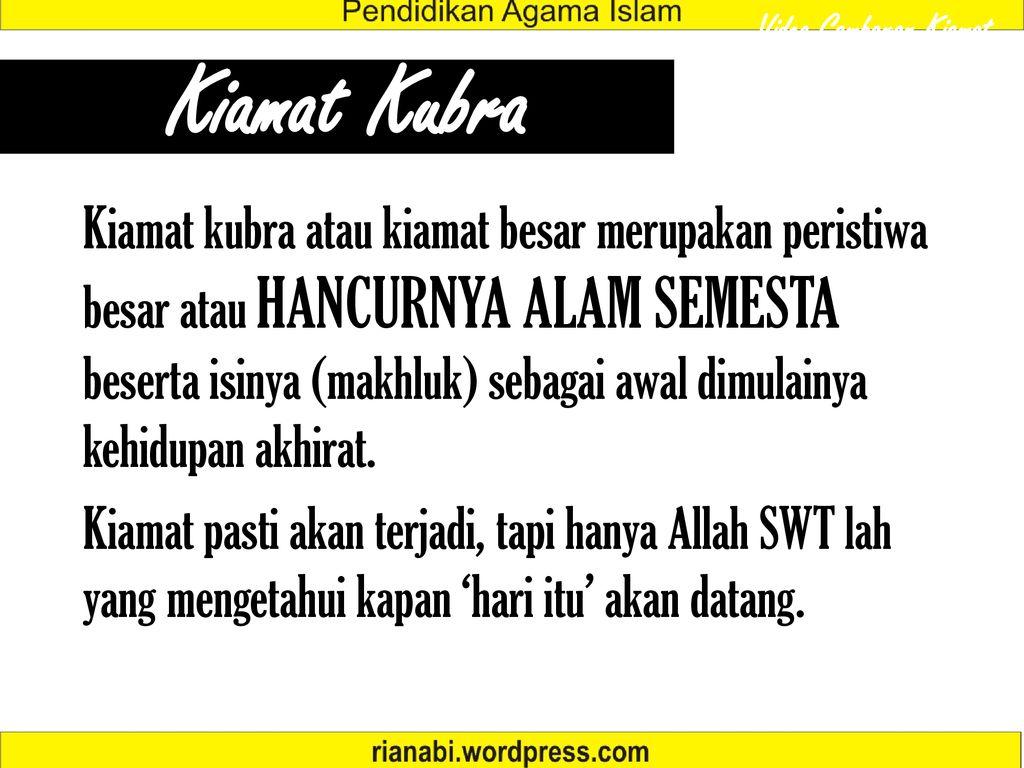 Hari Kiamat Rian Hidayat S Pd I Ppt Download