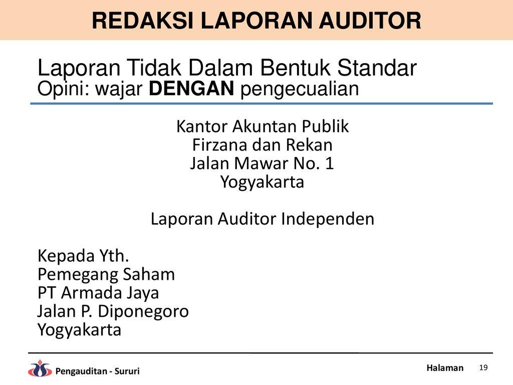 Bab 12 Laporan Auditor Ppt Download